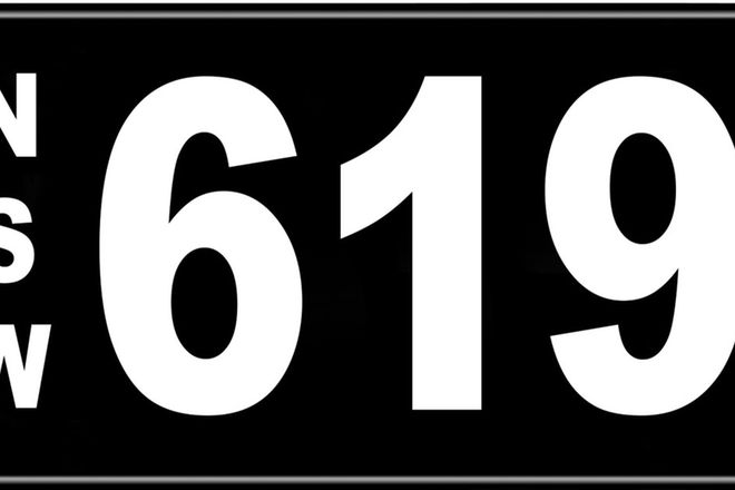 Number Plates - NSW Numerical Number Plates '619'