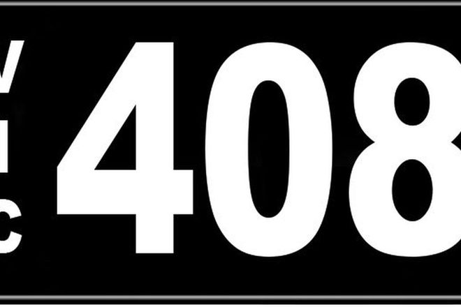 Number Plates - Victorian Numerical Number Plates '408'