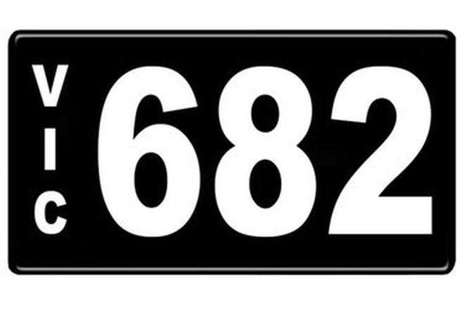 Number Plates - Victorian Numerical Number Plates '682'