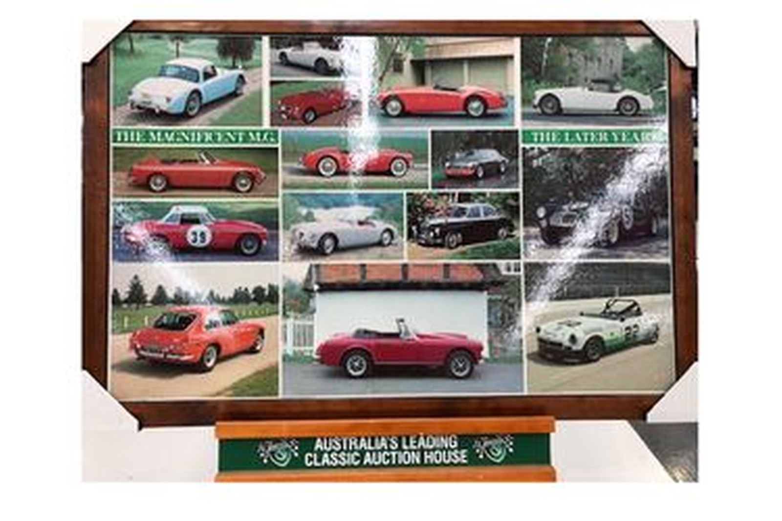 Framed Poster - The Magnificent MG - Late Years (Size 40 by 27'')