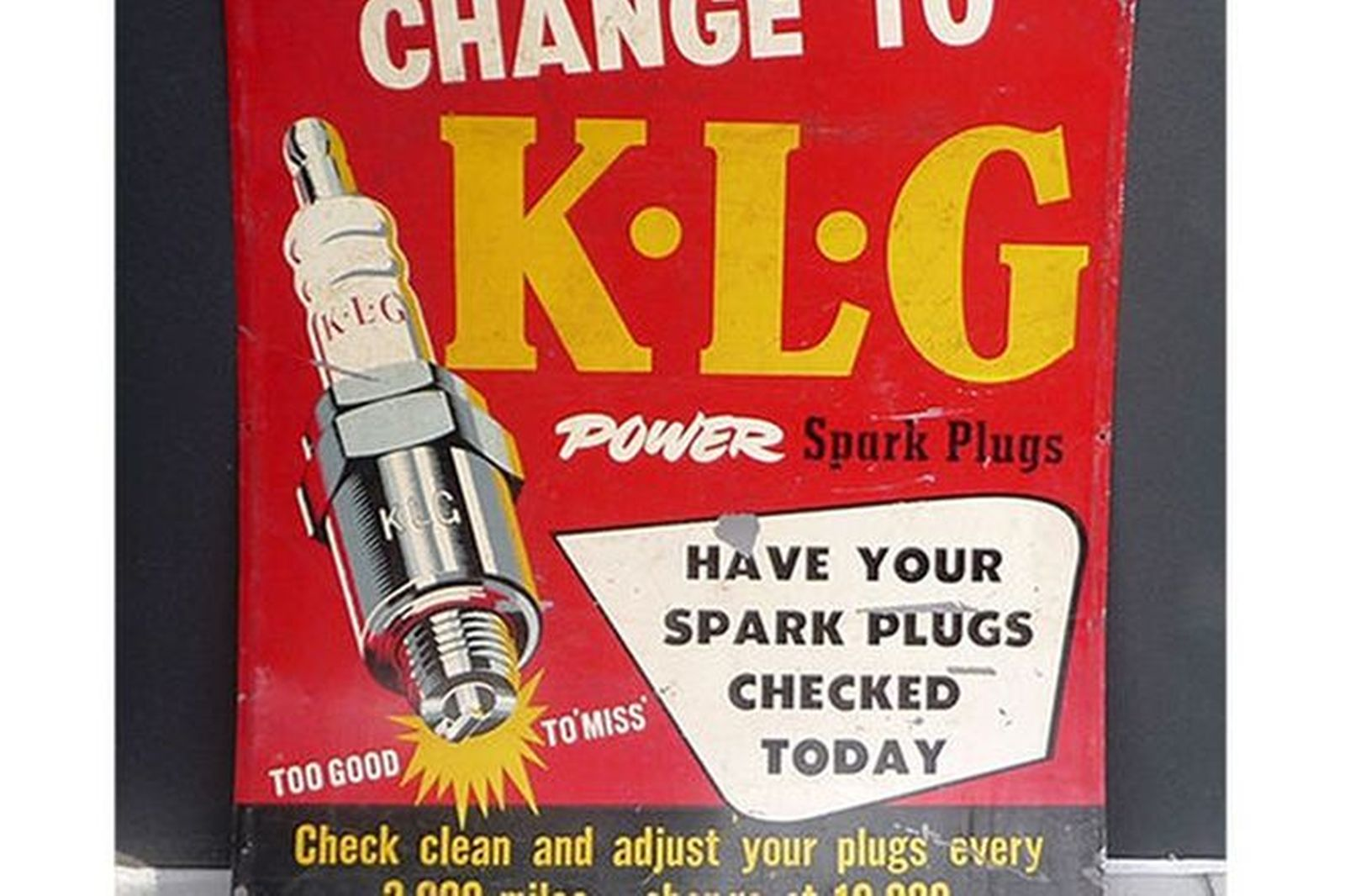 Tin Sign - KLG Spark Plugs (76 x 92cm)