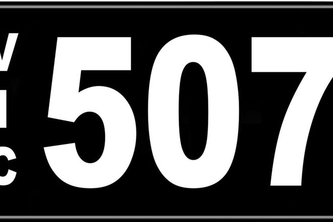 Number Plates - Victorian Numerical Number Plates '507'