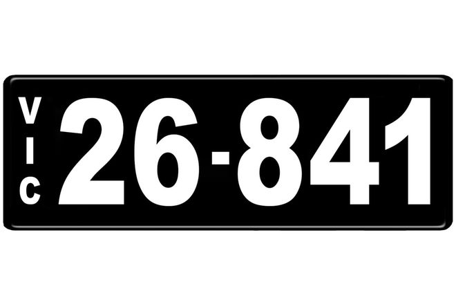 Number Plate - Victorian Numerical Number Plate - 26.841