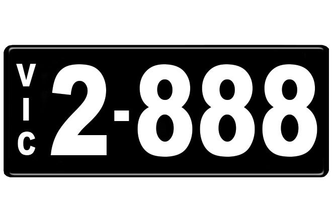 Number Plates - Victorian Numerical Number Plates '2.888'
