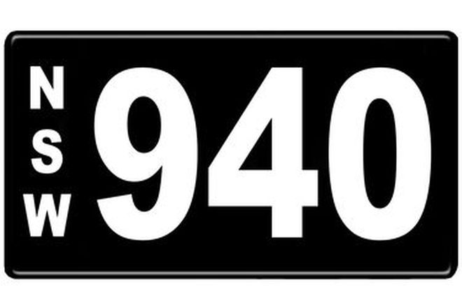 Number Plates - NSW Numerical Number Plates '940'