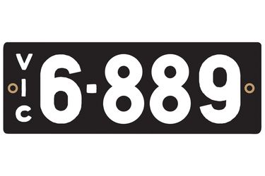 Victorian Heritage Numerical Number Plate - 6.889