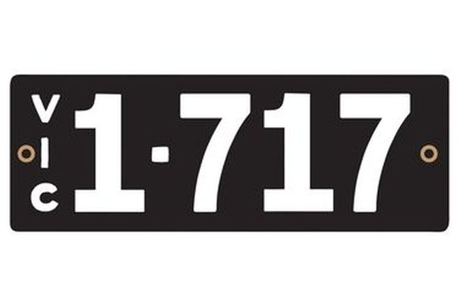 Victorian Heritage Numerical Number Plates '1.717'