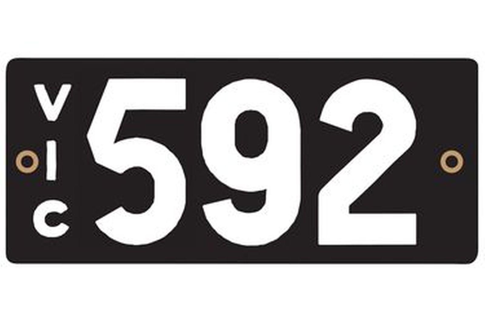 Victorian Heritage Plate '592'
