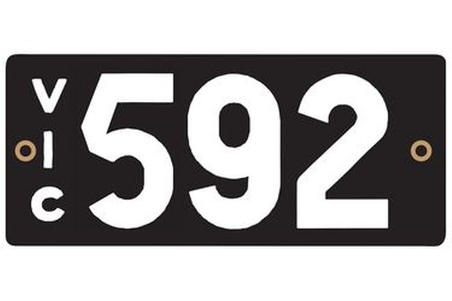 Victorian Heritage Plate '592'