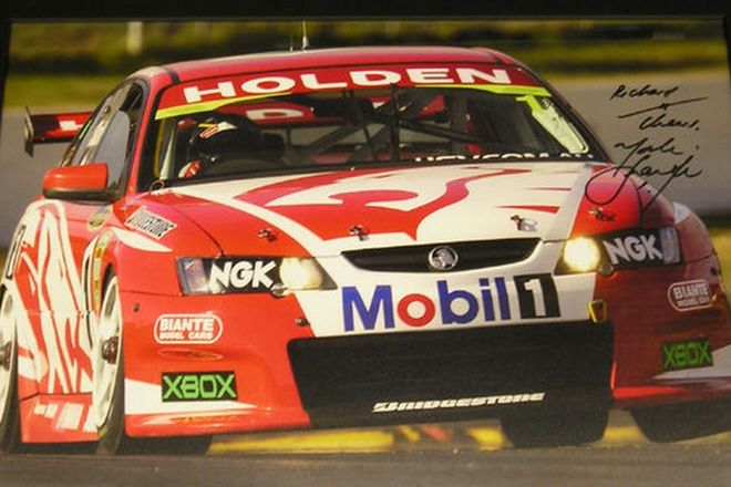 Framed Photo - Signed Mark Skaife in the HRT