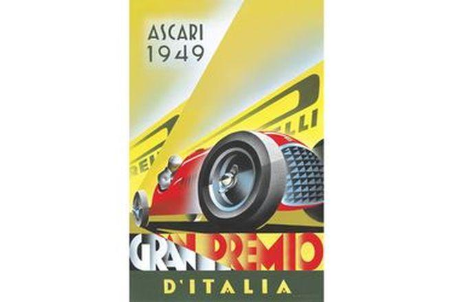 Vinyl Hanging Poster - Ascari 1949