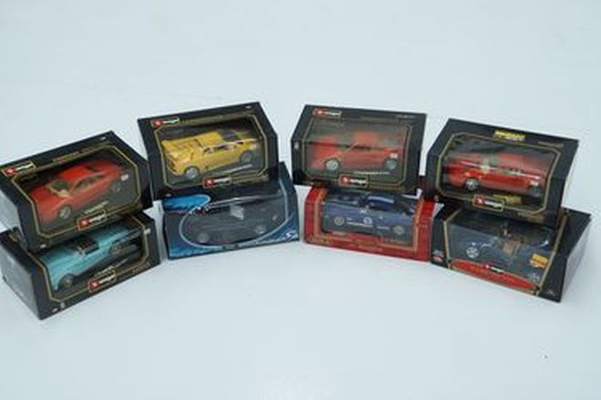 Model Cars x 8 - Burago diecast x 5