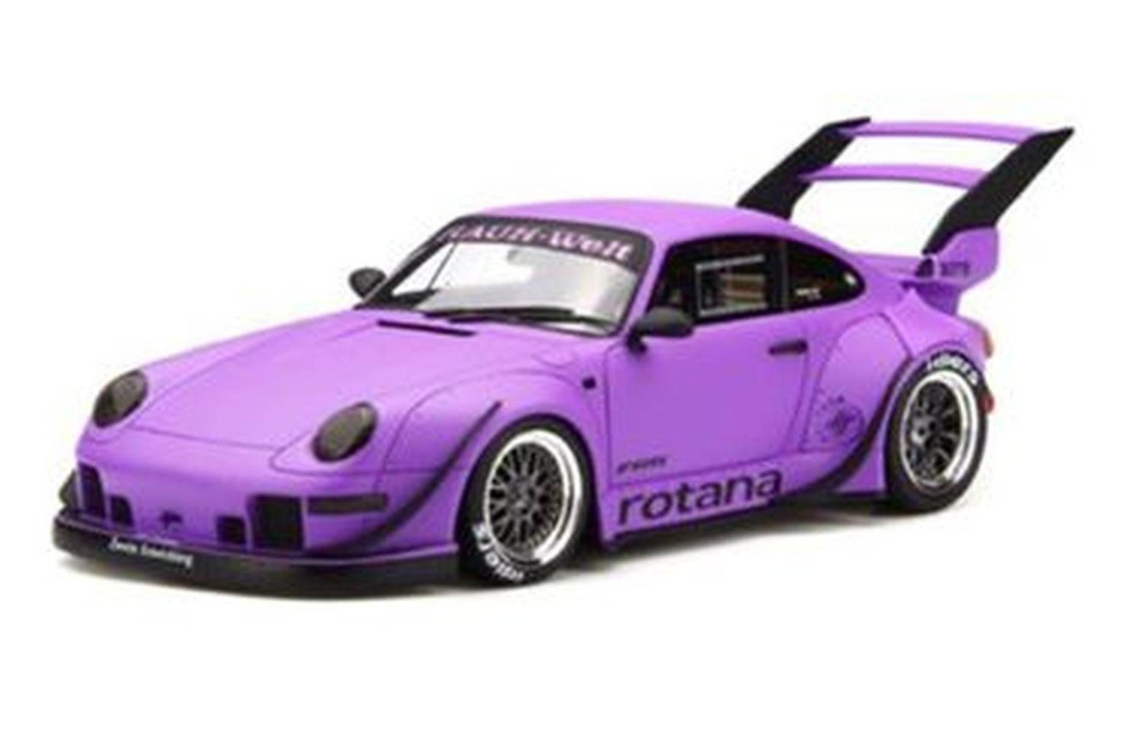 Model Car - Porsche GT737 RWB993 Rotana Purple  Brand - Gt Spirit (Scale - 1:18)