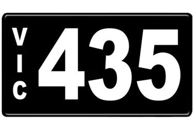 Number Plates - Victorian Numerical Number Plates - 435