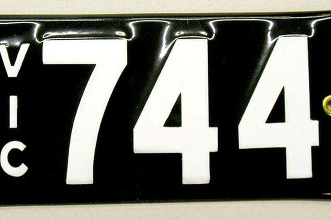 Number Plates - Victorian Numerical Number Plates - '744'