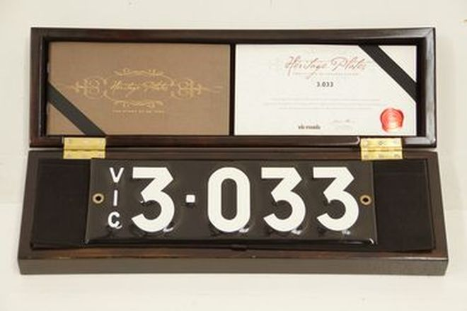 Victorian Numerical Number Plates '3.033'