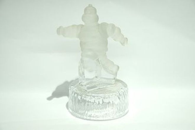 Crystal D'Arque Statue - Michelin Man in Box (Frosted)