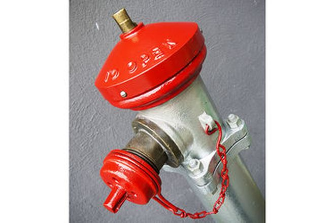 c1924 Cast Iron Fire Hydrant (146cm tall)
