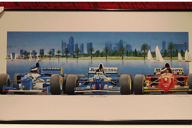 Framed Print - 'Who will it Be' 1996 Melbourne Grand Prix