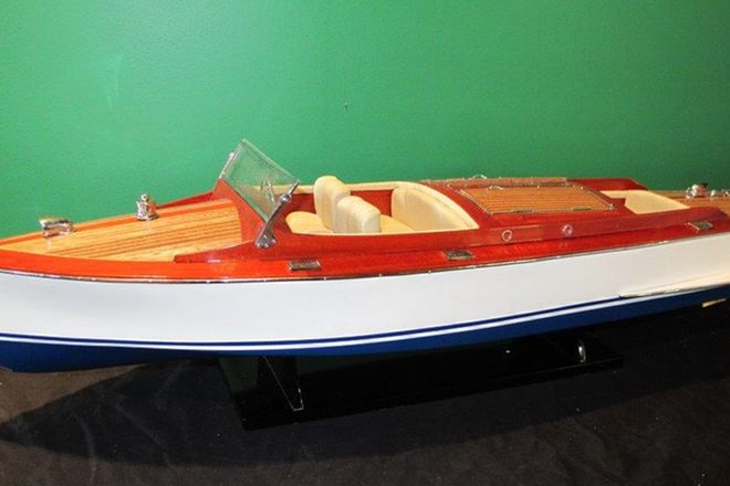 Model Boat - Chris Craft Dual Cockpit Cruiser Model (80cm long)
