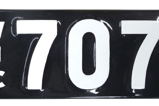 Number Plates - Victorian Numerical Number Plates - '707'