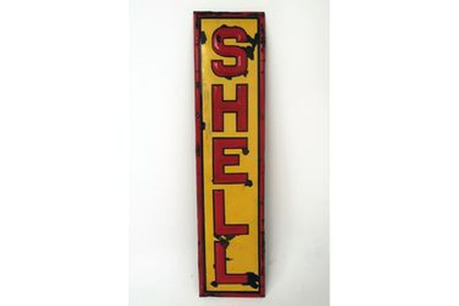 Enamel Sign - Shell Embossed Sign (43 x 179cm)