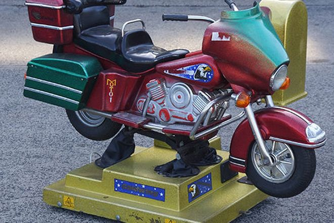 Childs Coin Operated Ride - Honda Motorcycle