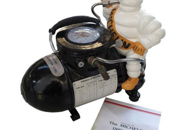 Compressor - c1930 Michelin with copy of sales leaflet