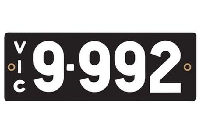 Victorian Heritage Numerical Number Plates '9.992'