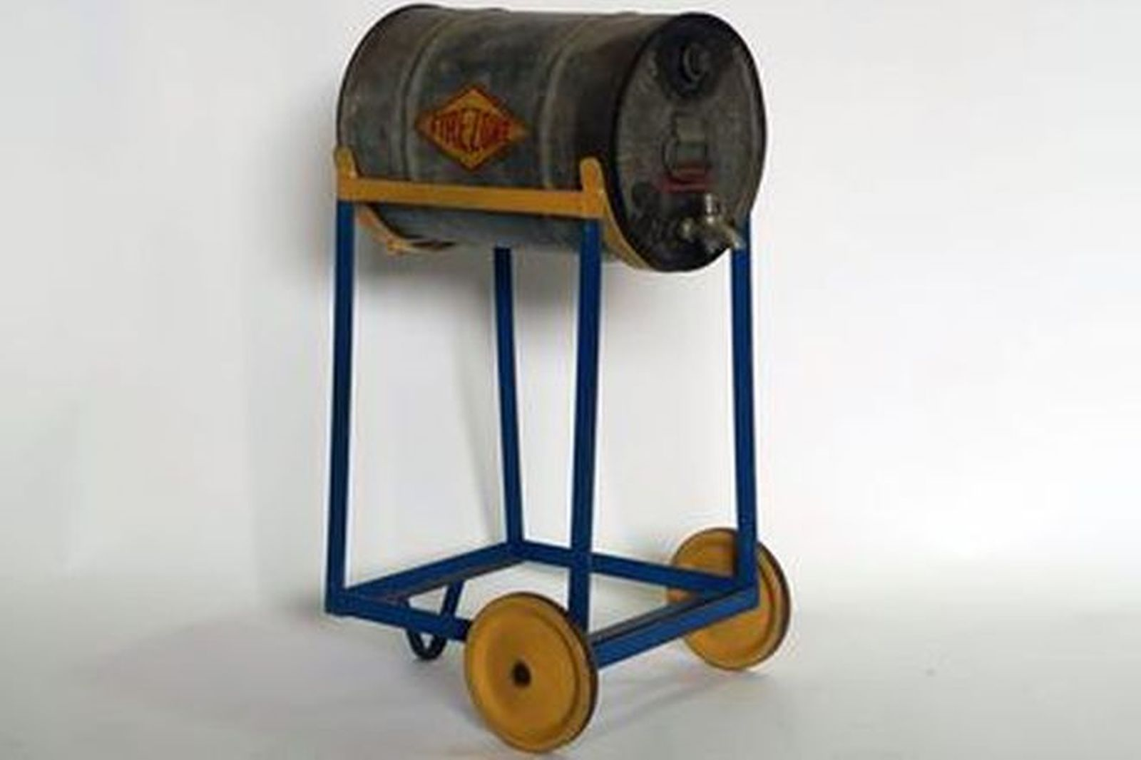 Oil Drum - Firezone 8 Gallon Galvanised on Sleigh Trolley