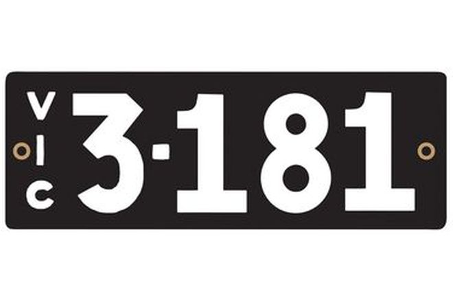 Victorian Heritage Number Plates '3.181'