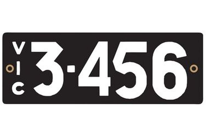 Victorian Heritage Number Plates '3.456'