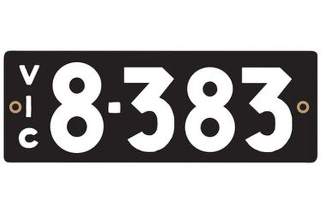 Victorian Heritage Number Plates '8.383'