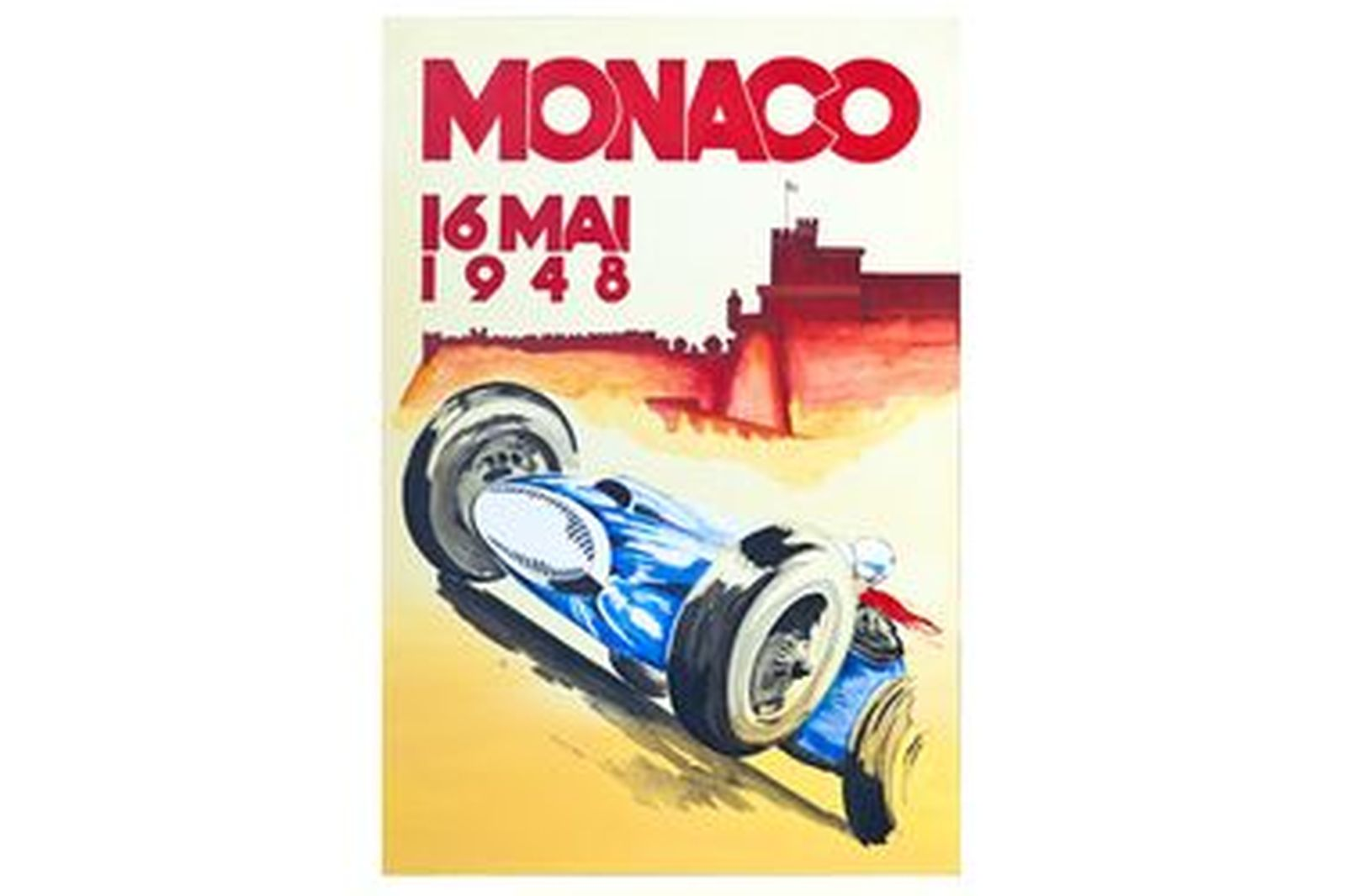 Quality Prints Framed - Monaco 16 MAI 1948 (594 x 841mm)