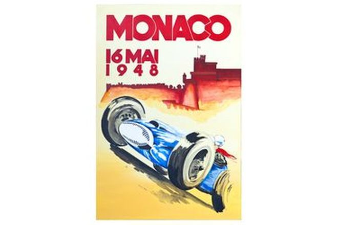 Quality Prints Framed - Monaco 16 MAI 1948