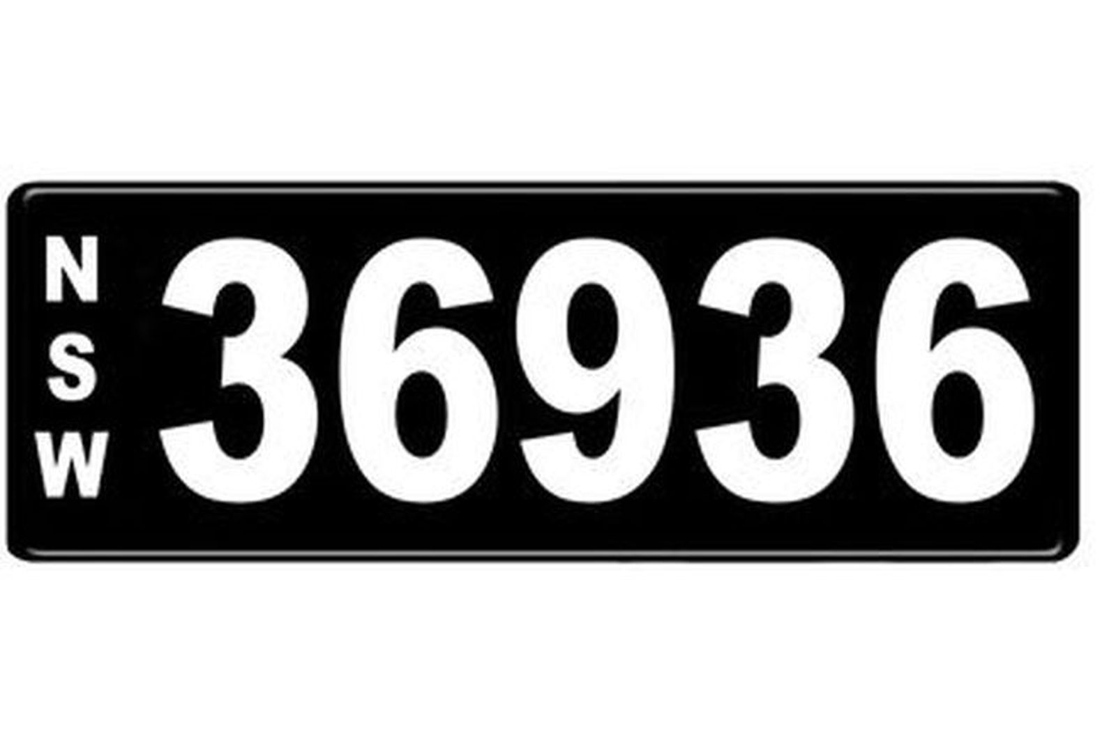 Number Plates - NSW Numerical Number Plates '36936'
