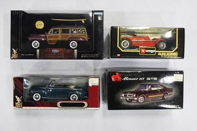 Model Cars Assorted x 4