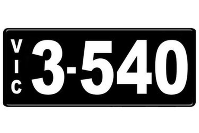 Number Plates - Victorian Numerical Number Plates '3.540'