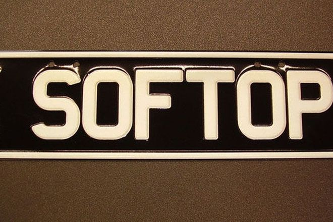Victorian Number Plates - 'SOFTOP'