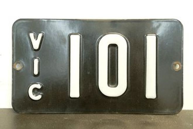 Number Plates - Victorian Numerical Number Plates '101'