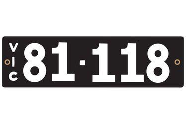 Victorian Heritage Number Plates '81.118'