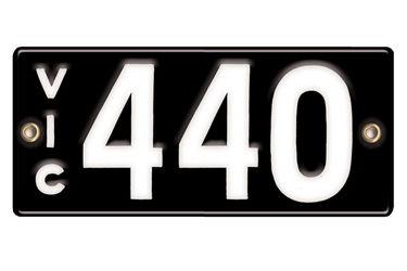 Victorian Vitreous Enamel Number Plates - '440'
