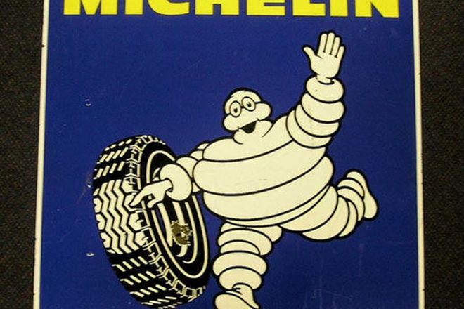Enamel Sign - Michelin Double sided (63 x 63cm)