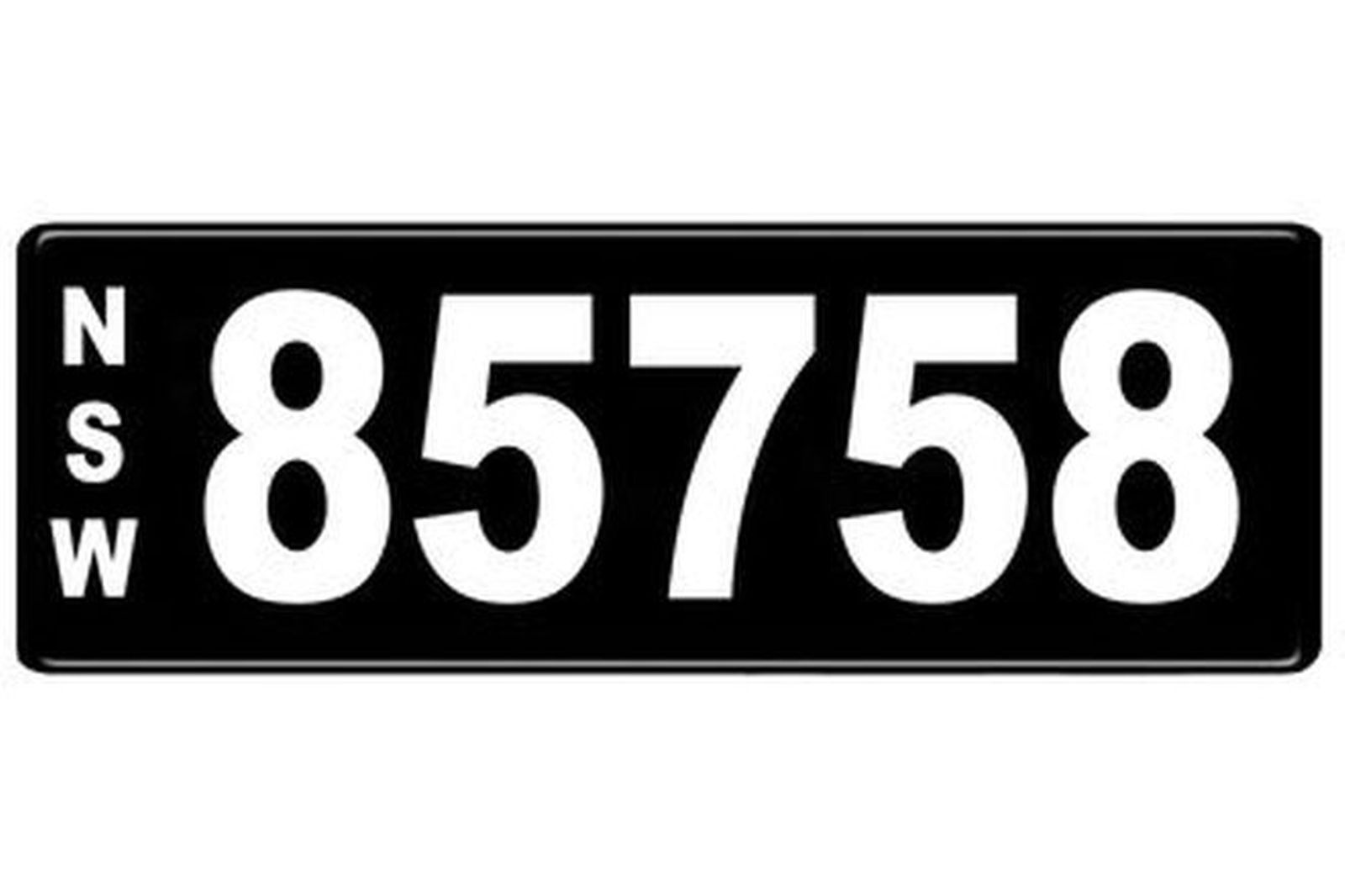Number Plates - NSW Numerical Number Plates '85758'