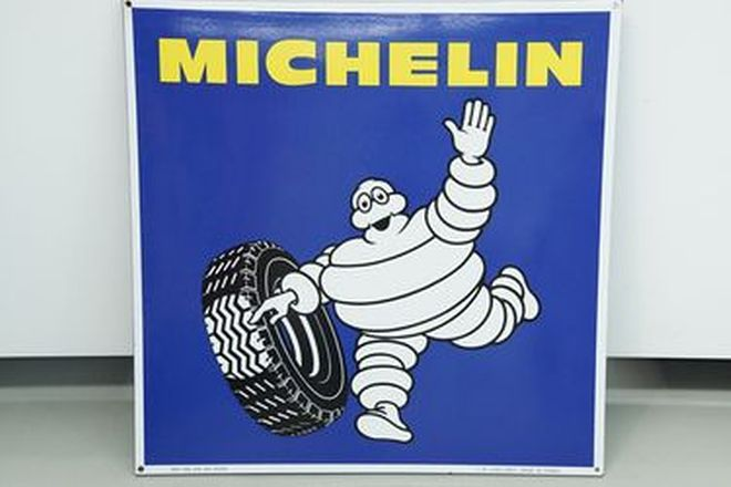 Enamel Sign - c1981 Michelin (72 x 72cm) - From the 'Ian Cummins Collection'