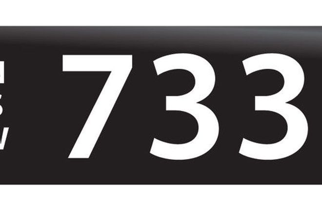 RTA NSW Numerical Number Plates '733'