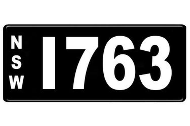 NSW Numerical Number Plates '1763'