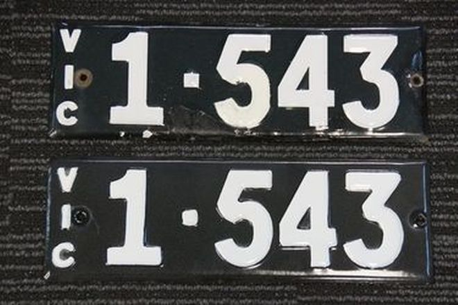 Number Plates - Victorian Numerical Number Plates - 1.543