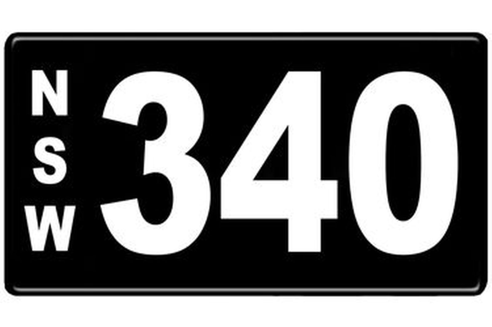 Number Plates - NSW Numerical Number Plates '340'