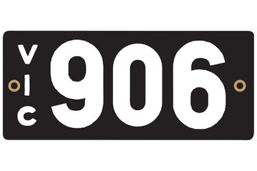 Victorian Heritage Plate '906'